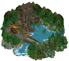 Fisherman's house habbo by Mookye on DeviantArt Habbo Pixel, Pixel Art, Minecraft Creations, Minecraft Designs, Farm Cartoon, Pixel Animation, Isometric Art, Minecraft Architecture, Fantasy Art Landscapes