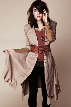 casual steam punk outfit.