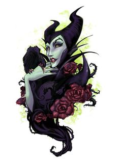 Maleficent by Audra Auclair Disney Villains Art, Evil Villains, Disney Fan Art, Disney Movies, Evil Disney, Disney Magic, Goth Disney, Maleficent Tattoo, Maleficent Dragon