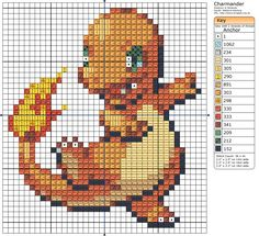 Click the image to enlarge, right click and select Save As to download the pattern. To see what it'll look like stitched, check out what other people have made below. Charmander - Cross stitching by ~Lenz64 on deviantART