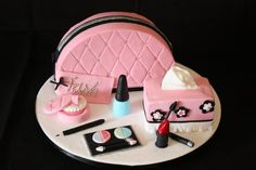 Makeup Bag Cake Tutorial Cakes on pinterest  shaun the