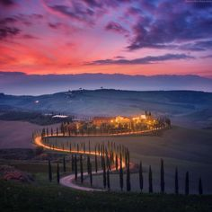 """Wonderful sunset in Tuscany. Shot during my November photo workshop in Tuscany in Crete Senesi."