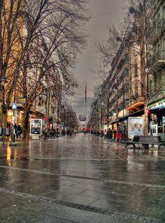 Makedonija Street in Skopje, Macedonia