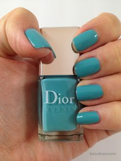 Tiffany blue nail polish by Dior