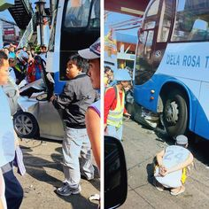 Car pinned by bus on EDSA is most horrific thing you'll see this week Top Gear, Automotive Industry, Philippines, Industrial, Car, Photography, Automobile, Photograph, Fotografie