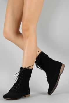 Breckelle Sandy-62S Suede Lace Up Bootie