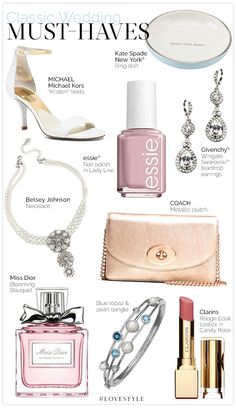 Must-Haves for Classic Weddings #LoveStyle