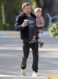 Father-son date: Ben Affleck was seen spending time with his only son Samuel (aged three) during a breakfast date in Santa Monica, California on Thursday
