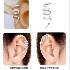 Encontrar Más Pendientes de Clip Información acerca de E146 ventas al por mayor 2015 nueva moda Retro occidental serpiente Ear Cuff pendientes de Clip de la joyería, alta calidad Pendientes de cebra, China pendientes de cubo Proveedores, barato aretes de QBH Jewelry Co.,Ltd min order $1 en Aliexpress.com
