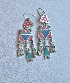 Vintage Southwestern Earrings, $17.00