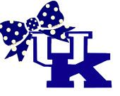 """Kentucky with Bow Decal for Laptop, Tablet, Notebook, Car - Choose 3"""", 4"""", 5"""" or 6"""".   Choose """"UK"""" Color & Bow Color"""