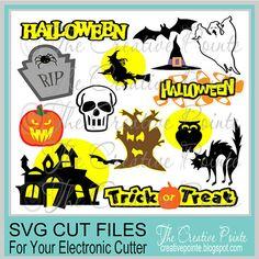 Halloween Set -- SVG Files  $5