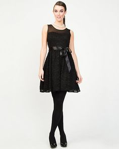 Possible grad dress. Lace and Mesh Party Dress
