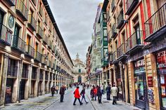 Calle Platerias, Valladolid Basque Country, Pinterest Photos, Future Travel, Happy People, Travel List, Spain Travel, Summertime, Street View, Explore