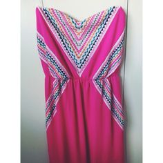 Pink Maxi Dress Lovely Maxi Dress, worn few times. Great condition. My Michelle Dresses Maxi