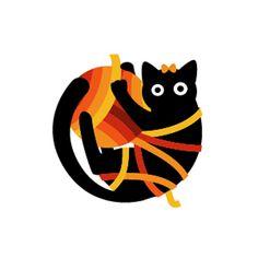 Black cat - sewing and knitting supplies store logo - Wolda Professional awards (2010) -  Alexander Lanevski, Dmitry Ulasen