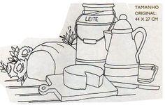 Art'sanália: Riscos para panos de prato.