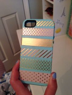 I decorated my phone case with washi tape!