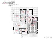 Projekt domu HomeKONCEPT-42 | HomeKONCEPT House Plans, Sweet Home, Floor Plans, How To Plan, Magnolia, Bungalow, Country Houses, Blue Prints, Ideas