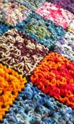 Almost finished..my double yarn crochet granny square afghan   Robin Mead's Art Blog