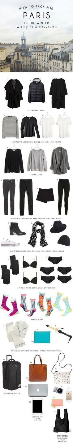 How to Pack for Paris in the Winter with Just a Carry-On Bag (via Bloglovin.com )
