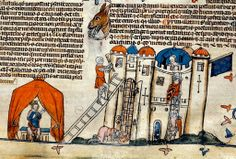 King in a Tent, soldiers attacking Castle. bas de page. France c. 1475-1525.  BL  http://www.pinterest.com/stephenjeffrey9/post-medieval/