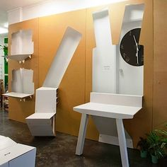 Folding Furniture from Cardboard Panels