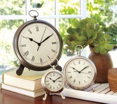 Pocket Watch Clock | Pottery Barn - This handsome timepiece recalls an antique English pocketwatch
