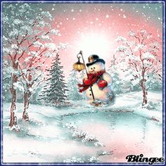 Tomorrow it should look like this, let& see how much there is! Merry Christmas Happy Holidays, Christmas Tree With Gifts, Charlie Brown Christmas, Christmas Scenes, Christmas Villages, Christmas Snowman, Winter Christmas, Whimsical Christmas, Vintage Christmas