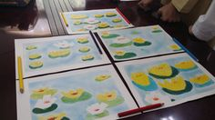 The lesson objective for this art lesson was that water Lillie's are not a subject of their environment. Although living and growing up in dark murky ponds the Lillie's continue to grow into beautiful flowers taking on their own colours and shapes. A lesson that the orphans at the social care centre loved and appreciated. Thank you to our artist volunteer who conducted this wonderful art therapy.