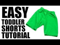 You'll love this free shorts pattern for toddlers.This easy to follow pattern can be sewn in under 20 minutes! Comes with a free pdf pattern to download and video to make it straight forward.