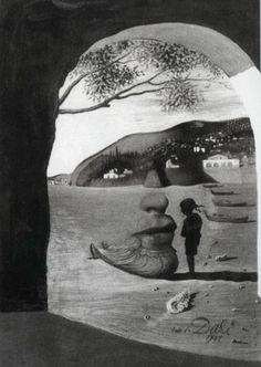 Here weve got the paintings of Salvador Dali with amazing optical illusions hidden inside. Here weve got the paintings of Salvador Dali with amazing optical illusions hidden inside. Salvador Dali Gemälde, Salvador Dali Paintings, Illusion Kunst, Kunst Online, Inspiration Art, Wow Art, Fine Art, Art Design, Art Plastique