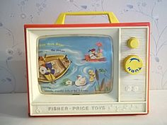 Vintage 1966 Fisher Price Giant Screen Music Box Tv