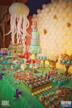 Decoração para Festa Infantil Pequena Sereia