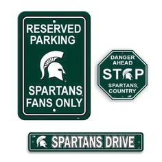 Michigan State Spartans 3-Piece Sign Kit