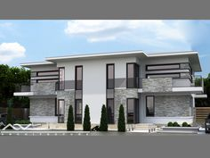 Architecture Duplex Indoor – Enhance The Décor Of Your Home Article Body: Want to make the indoor of Townhouse Designs, Duplex House Design, House Front Design, Modern Architecture House, Architecture Design, Big Architects, Model House Plan, Duplex House Plans, Facade House