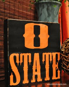 Word Art - Oklahoma State - Distressed Vintage Style