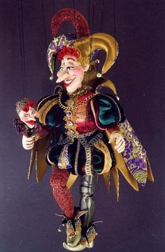 Gorgeous hand made marionette.
