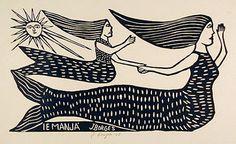"""Também conhecida como a """"mãe das águas"""", Iara é uma personagem do folclore brasileiro. De acordo com a lenda, de origem indígena, Iara é uma linda sereia (corpo de mulher da cintura para cima e de peixe da cintura para baixo) morena de cabelos negros e olhos castanhos."""