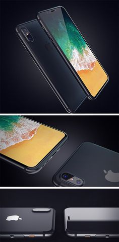 These renderings of iPhone 8 concept by Dante Metaphor may just be the real deal… but there's no way of knowing until Mr. Cook unveils the design at the next keynote! New Technology Gadgets, Cool Technology, Tech Gadgets, Iphone 8 Concept, Xbox Wireless Controller, All Mobile Phones, Most Beautiful Wallpaper, Apple Inc, Mobile Accessories