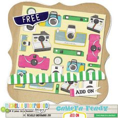 Camera Ready doodle freebie from Michelle Underwood