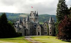 Ardverikie House, built in the Scottish baronial style in 1870, is one of the finest private houses in the Scottish highlands. Sitting on a promontory overlooking King Fergus's Island with its ancient ruins, a three mile private drive winds past the largest inland beach in the country and round the loch. The house played host to Queen Victoria and Prince Albert for a whole month before she bought Balmoral.