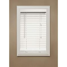 Home Decorators Collection White Faux Wood Blind, 2 in. Slats, 64 in. Length (Price Varies by Size)-10793478068289 at The Home Depot- like this for master bath, breakfast and kitchen