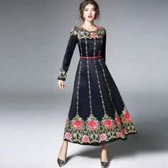 73f0e29fb257d2 Long Sleeve Vintage Palace Print Elegant Party Dress – Green 7 Seven  Elegant Party Dresses,