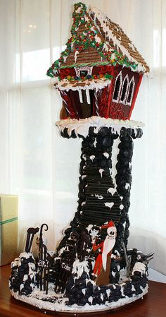 The Nightmare Before Christmas Gingerbread House by B.R. Cohn, via Flickr