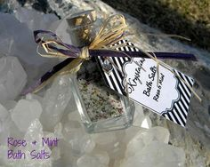 Rose and Mint Bath salts Reiki Blessed by Krystalins on Etsy, $7.25