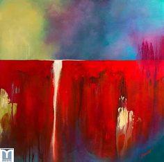 Emanation, acrylics on canvas by Jesus F. Moreno