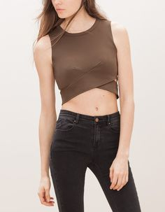 At Stradivarius you'll find 1 Top with slit detail for woman for just 549 UAH . Visit now to discover this and more TOPS.