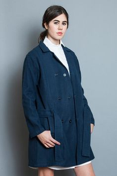 TRENCH COAT INDIGO - Young & Able