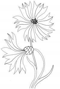 Flowers Garden Coloring Pages ⋆ Step-by-Step Instructions Embroidery Cards, Embroidery On Clothes, Hand Embroidery Patterns, Embroidery Stitches, Embroidery Designs, Saree Painting, Fabric Painting, Garden Coloring Pages, Stitching On Paper